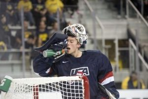 USNTDP and University of Notre Dame goaltender Dylan St. Cyr, 5-foot-8