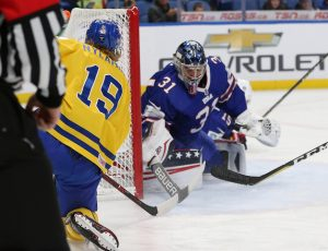 Joseph Woll in 2018 WJC quarterfinals game vs. Sweden