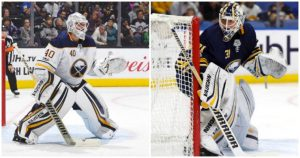 Sabres goalies Robin Lehner and Chad Johnson