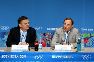 IIHF President Réne Fasel and NHL Commissioner Gary Bettman