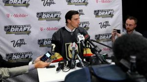 Marc-Andre Fleury, after being selected by the Vegas Golden Knights in the 2017 NHL Expansion Draft