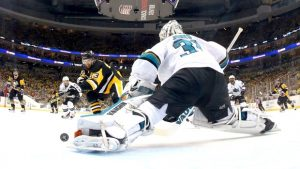 Martin Jones in Game 5 of 2016 Stanley Cup Final