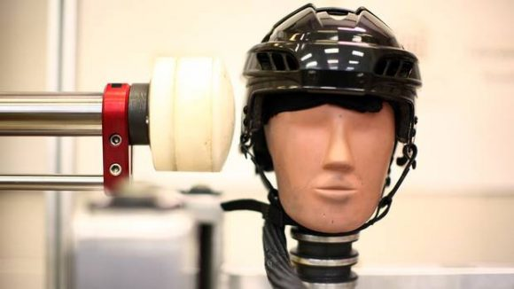 Hockey helmet safety test