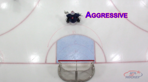 Goalie at Aggressive depth