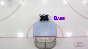 Goalie at Base Depth