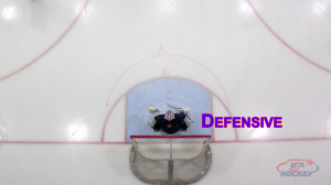 Goalie at Defensive depth