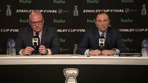 NHL Commissioner Gary Bettman and Deputy Commissioner Bill Daly
