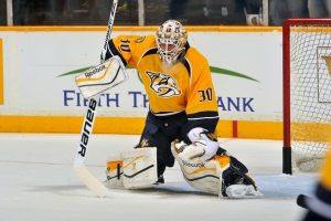 Carter Hutton with the Nashville Predators