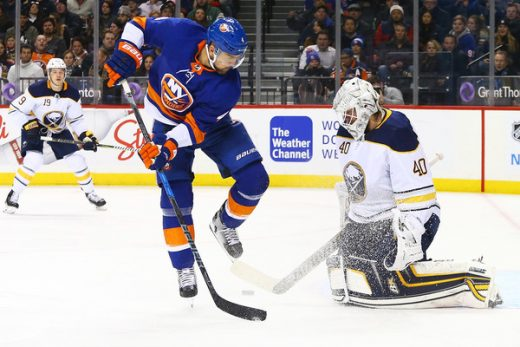 Robin Lehner with the Buffalo Sabres