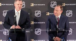 NHL Commssioner Gary Bettman and MGM Resorts Chairman and CEO Jim Murren