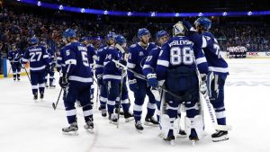 The Tampa Bay Lightning, who currently lead the NHL in goals scored (173) and PP% (30.1%)