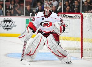 NHL Goaltender and Stanley Cup Champion Cam Ward displaying perfect feet positioning