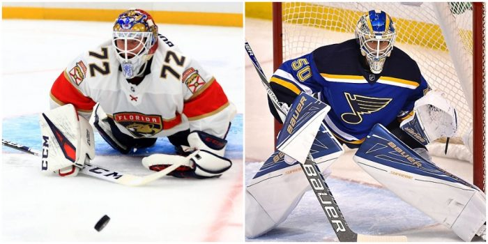 Sergei Bobrovsky and Jordan Binnington