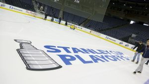 Stanley Cup Playoffs ice graphic