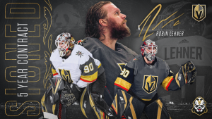 Lehner inked his extension with VGK on October 3rd, 2020. Graphic from NHL.com.